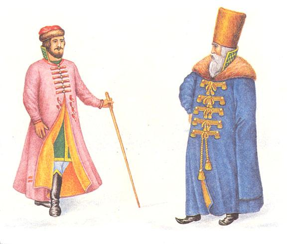 Ферязь и шапка. Русская шуба и горлатная шапка