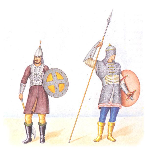 Воины в защитном снаряжении