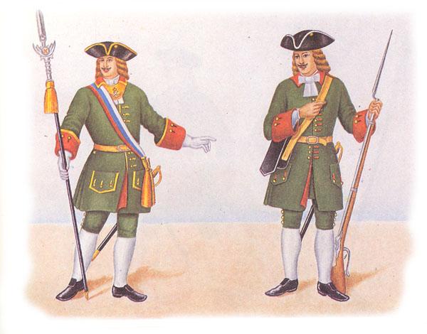 Штаб-офицер и рядовой лейб-гвардии Преображенского полка