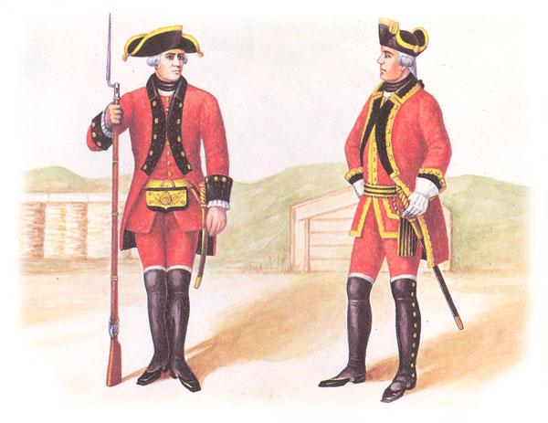 Фузилер и офицер артиллерийского полка