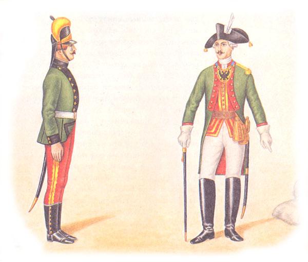 Рядовой артиллерист и полковник пехотного полка