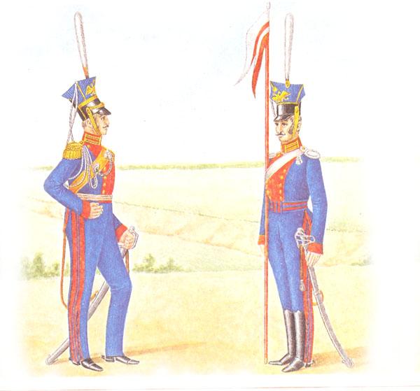 Штаб-офицер и рядовой лейб-гвардии Уланского полка