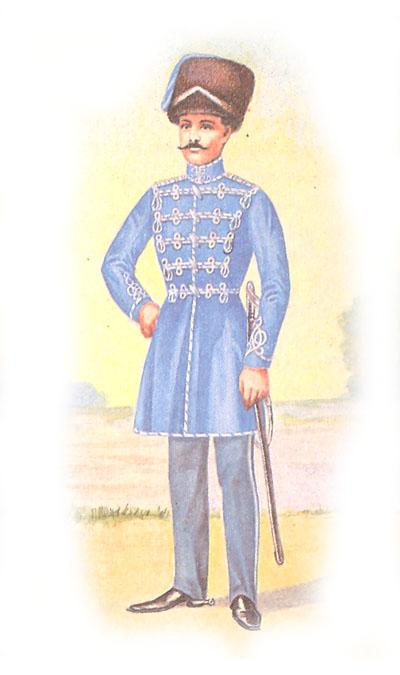 Обер-офицер лейб-гвардии Гродненского гусарского полка в венгерке