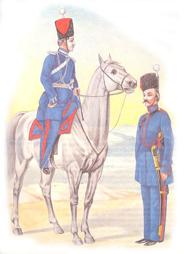 Обер-офицер и казак Донского казачьего войска