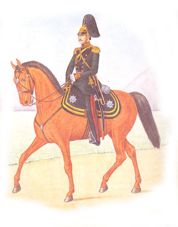 Штаб-офицер гвардейской конной артиллерии в парадной форме