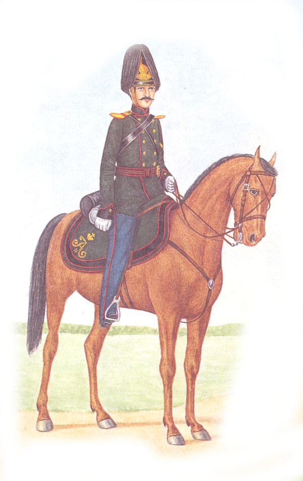 Канонир полевой конной артиллерии в парадной форме