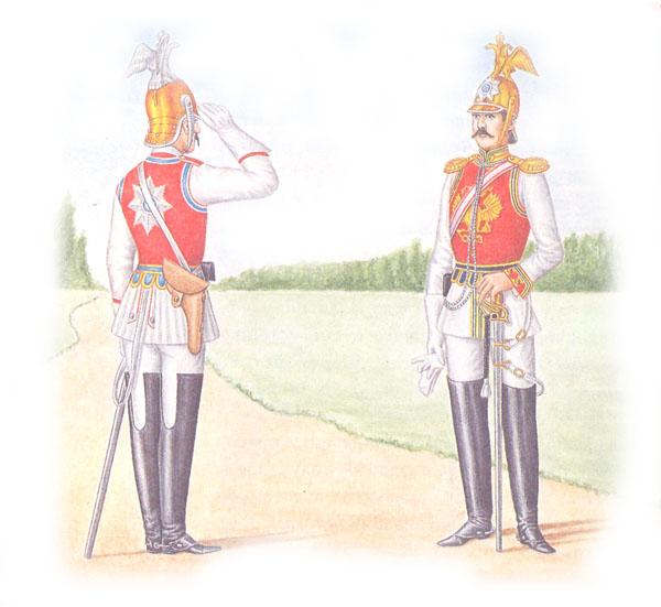 Унтер-офицер Кавалергардского и обер-офицер лейб-гвардии Конного полков в супервестах