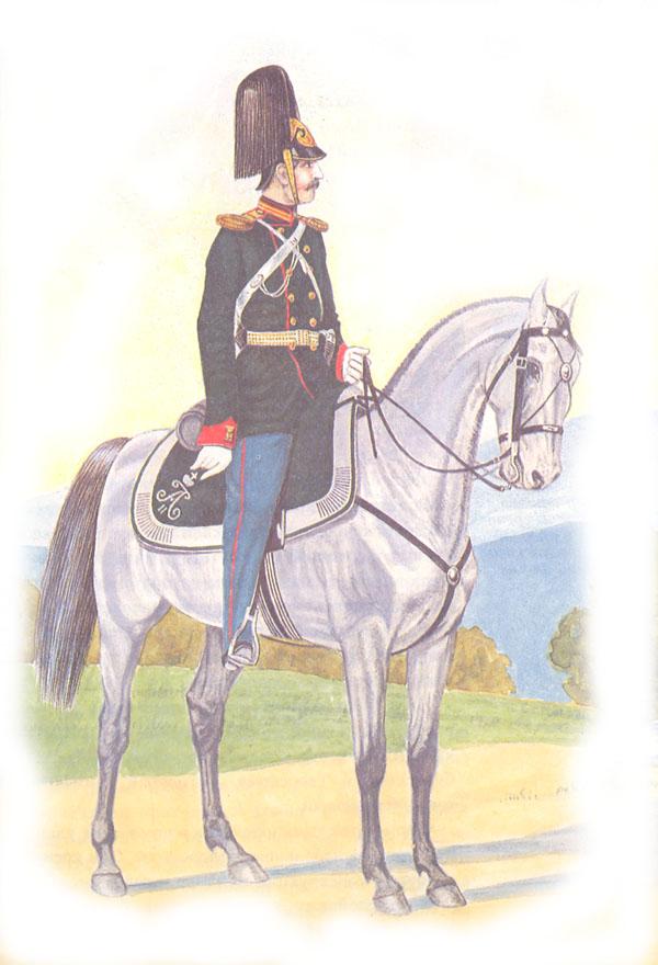 Обер-офицер лейб-Драгунского Его Величества полка в парадной форме