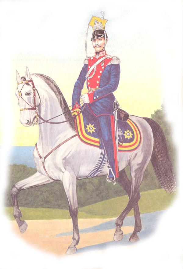 Штаб-офицер лейб-гвардии Уланского Его Величества полка в парадной форме