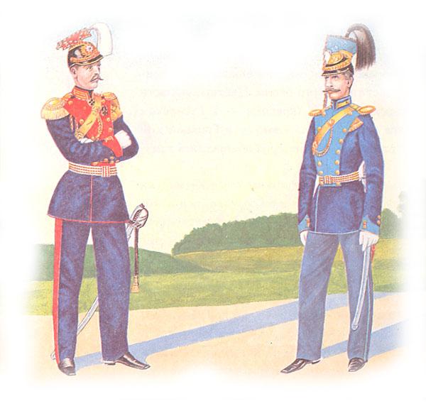Штаб-офицер лейб-гвардии Уланского полка и обер-офицер армейского уланского полка в парадной форме