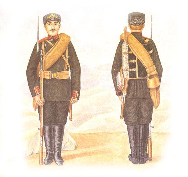 Экипировка солдата гвардейского пехотного полка