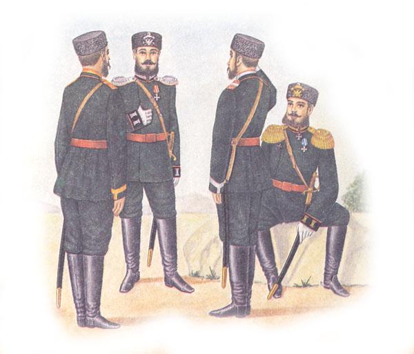 Форма одежды пешей артиллерии и инженерных войск (приказ по военному ведомству 1882 г. №33)