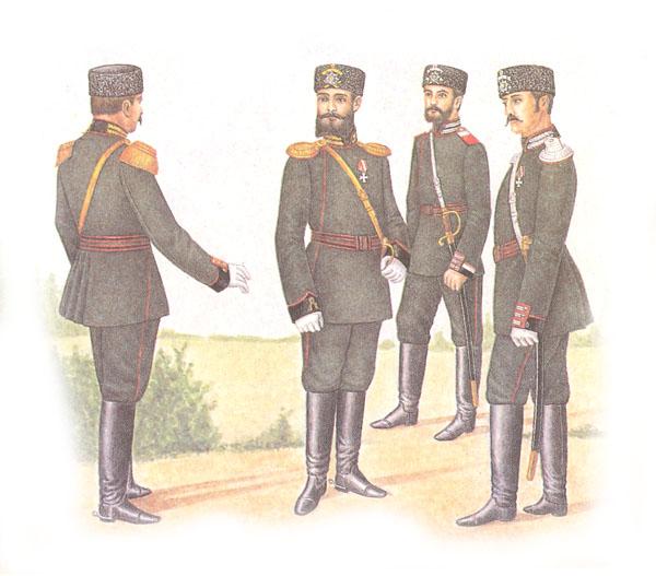 Форма одежды гвардейской артиллерии и гвардейских инженерных войск (приказ по военному ведомству 1882 г. № 86)