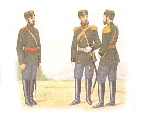 Форма одежды полевой конной артиллерии (приказ по военному ведомству 1882 г. № 325)
