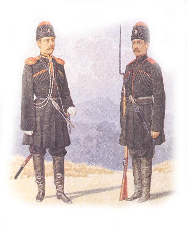 Форма одежды местных команд Кубанского казачьего войска