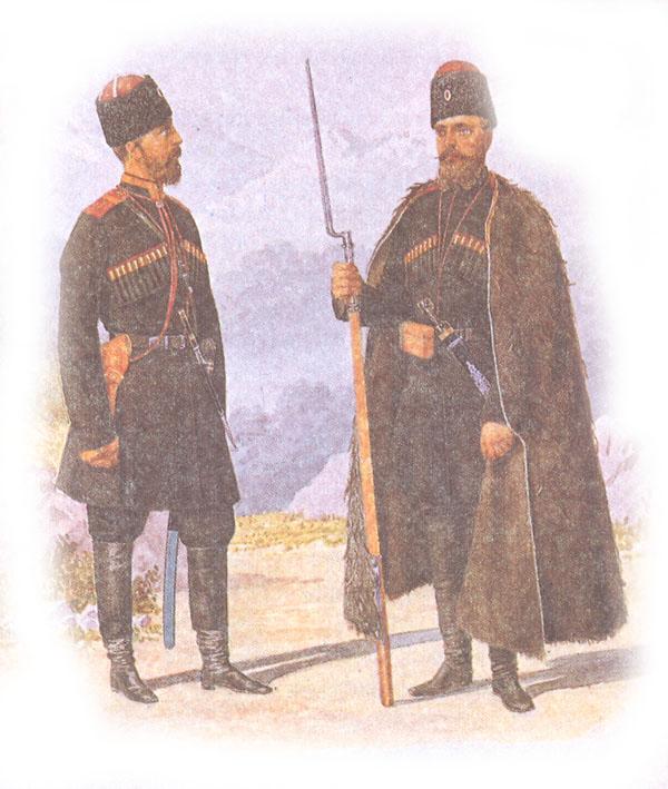 Форма одежды кавказских стрелковых дружин