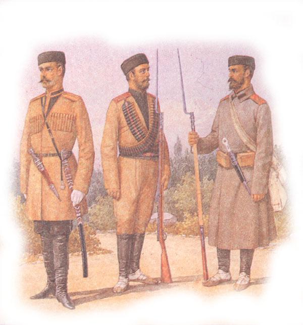 Форма одежды стрелковых дружин и резервных кавказских полков