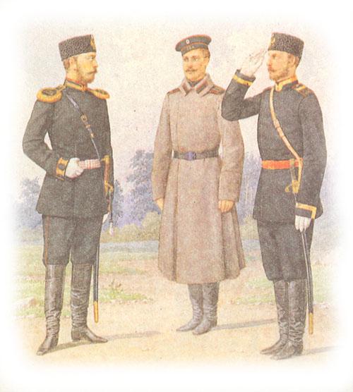 Форма одежды крепостных пехотных полков