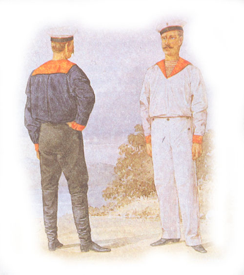 Форма одежды гребцов приморской крепостной артиллерии