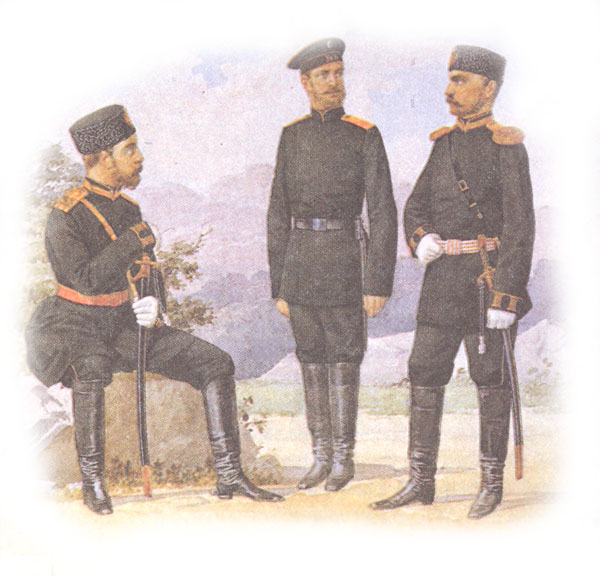 Форма одежды офицеров и рядовых учебных батальонов