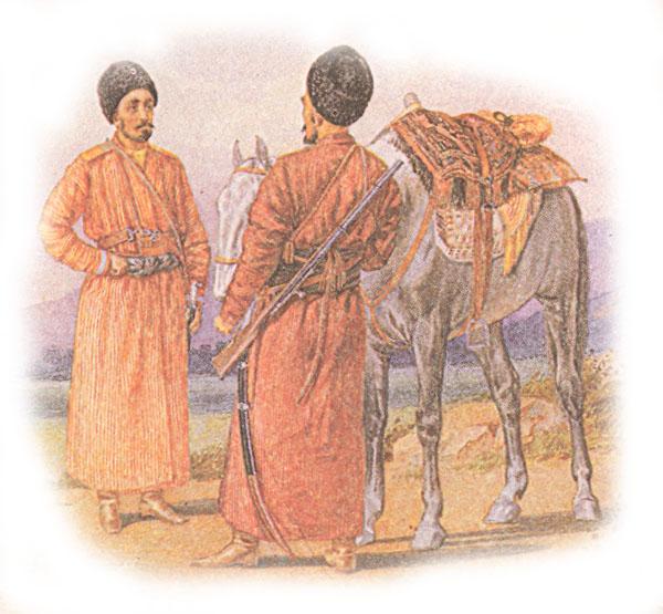 Форма одежды нижних чинов Туркменского конного дивизиона