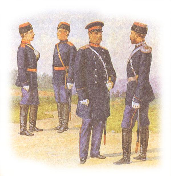 Проект формы одежды драгунских полков (возвращен с поправкой императора об изменении цвета приборного сукна)