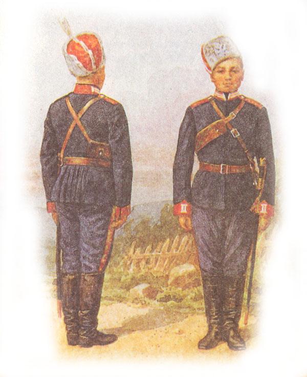 Проект формы одежды стеновых казачьих войск (отклонен императором)