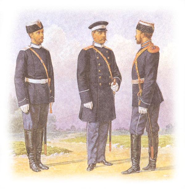 Форма одежды драгунских полков (утверждена императором после внесенной поправки)