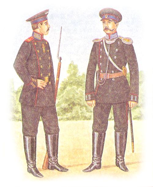 Рядовой 34-го Севского полка и обер-офицер 14-го гренадерского грузинского полка (вторые полки в дивизии)