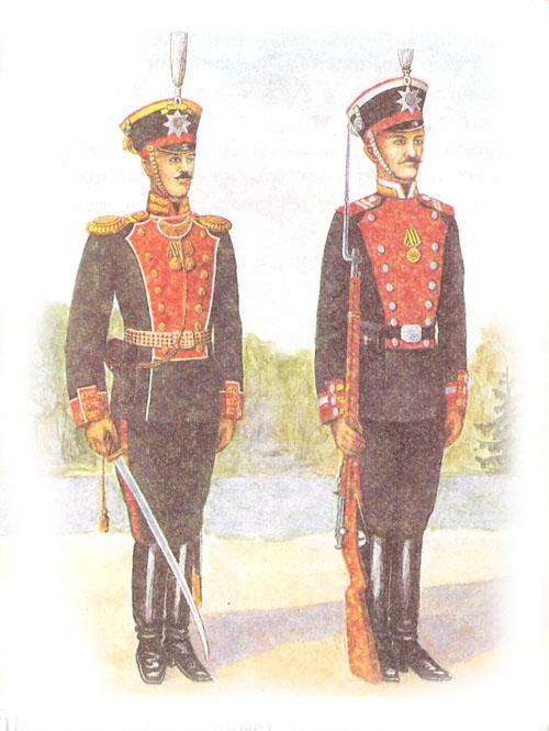 Обер-офицер лейб-гвардии Преображенского полка и унтер-офицер лейб-гвардии Стрелкового полка