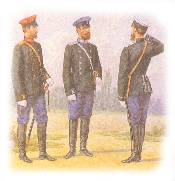Форма одежды армейских драгунских полков (в фуражках)