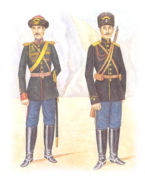 Обер-офицер 17-го драгунского Нижегородского полка и рядовой Приморского драгунского полка