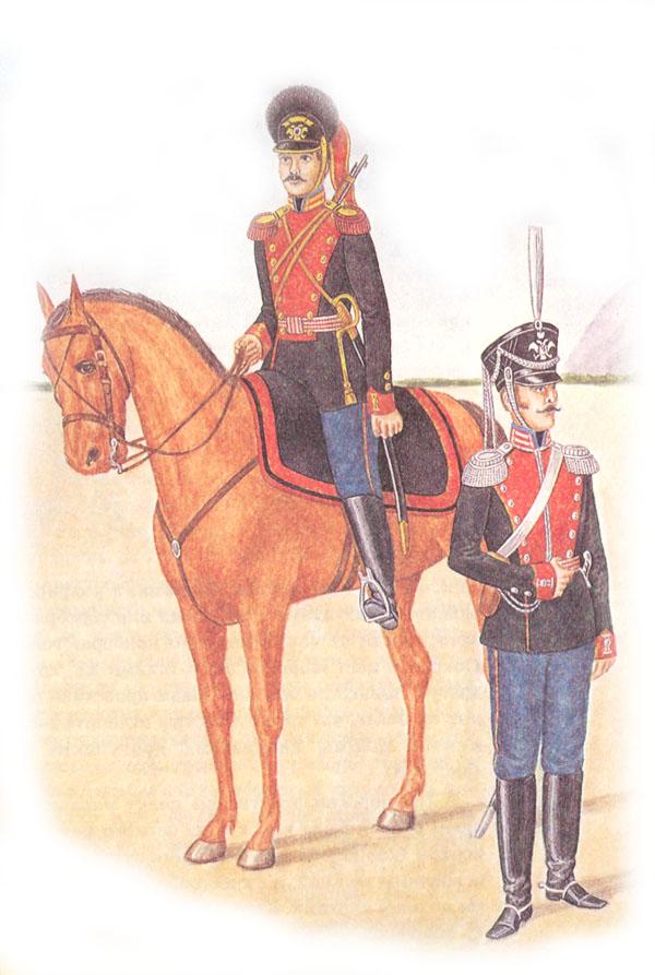 Рядовой лейб-гвардии Конно-гренадерского полка и штаб-офицер лейб-гвардии Драгунского полка
