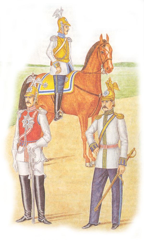 Обер-офицер Кавалергардского полка в придворной форме.
