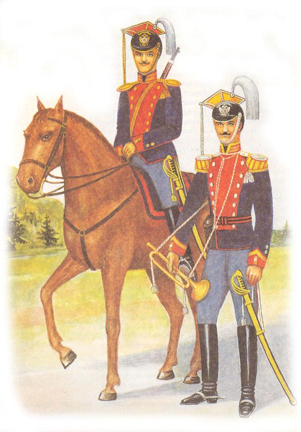 Парадная форма одежды рядового лейб-гвардии Уланского Ее Величества полка и трубача лейб-гвардии Уланского Его Величества полка