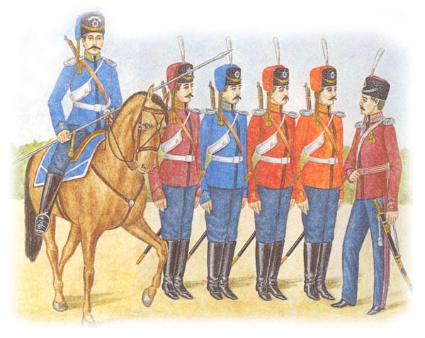 Казак лейб-гвардии Атаманского полка в парадной форме.