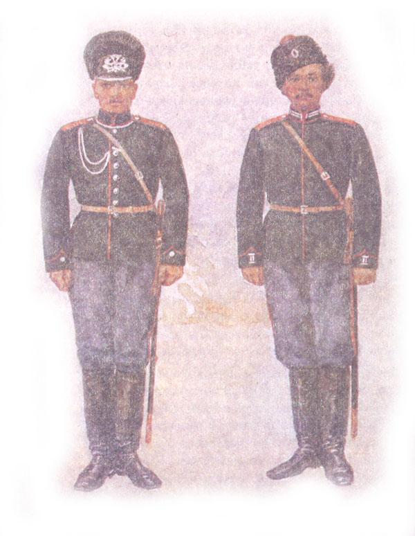Форма одежды конно-саперных команд армейских кавалерийских и казачьих (не кавказских) дивизий