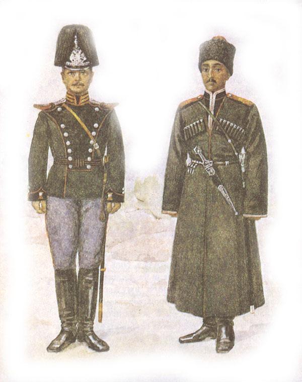 Форма одежды конно-саперных команд гвардейских кавалерийских и кавказских казачьих дивизий
